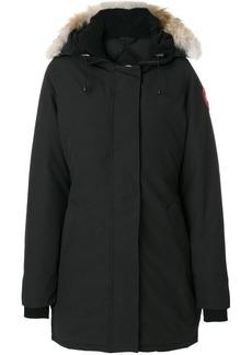 Canada Goose fur trim hooded coat