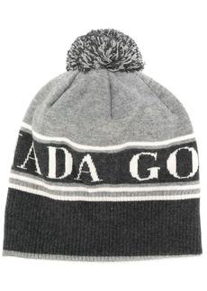 Canada Goose logo detail bobble hat