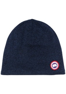 Canada Goose logo patch knitted beanie