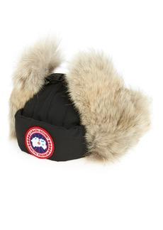 Men's Canada Goose Down Fill Aviator Hat With Genuine Coyote Fur Trim