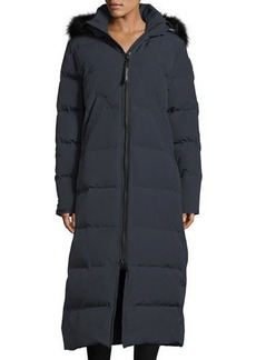 Canada Goose Mystique Long Hooded Puffer Parka Coat w/ Fur Trim