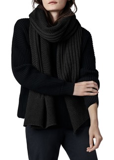 Canada Goose Oversized Wool Knit Scarf