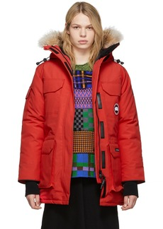Canada Goose Red Down Expedition Parka