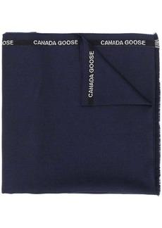 Canada Goose side logo detail scarf