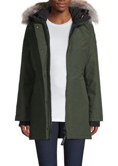 Canada Goose Victoria Slim-Fit Coyote Fur-Trim Parka