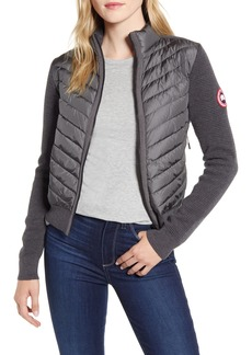 Women's Canada Goose Hybridge Quilted & Knit Jacket