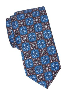 Canali Abstract Flower Silk Tie