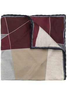 Canali abstract print scarf