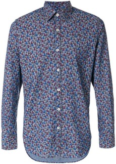 Canali boat-print formal shirt