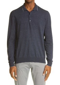 Canali 3B Men's Tipped Polo Sweater
