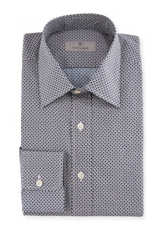 Canali Basketweave Cotton Dress Shirt