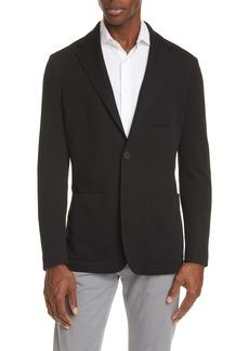 Canali Black Edition Classic Fit Knit Wool Blend Blazer