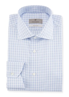 Canali Bold Check Dress Shirt