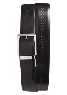 Canali Brogue Reversible Calfskin Leather Belt