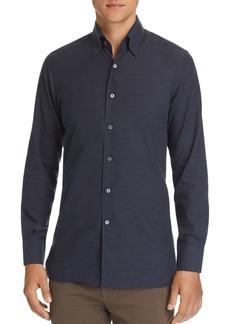 Canali Brushed Micro-Herringbone Sport Shirt