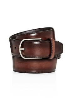 Canali Burnished Leather Belt