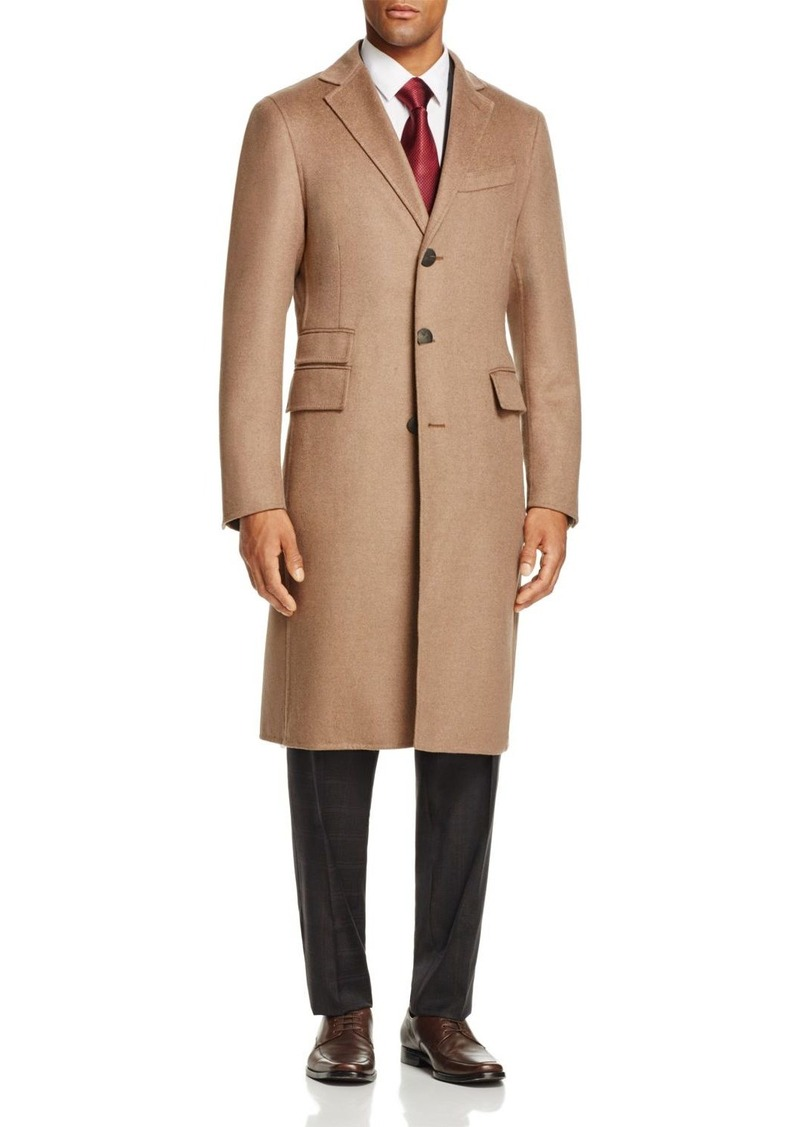 Canali Camel Double-Faced Cashmere Coat