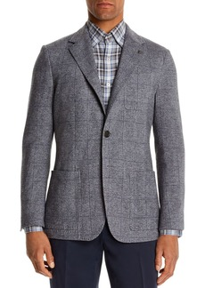 Canali Plaid Slim Fit Jersey Jacket