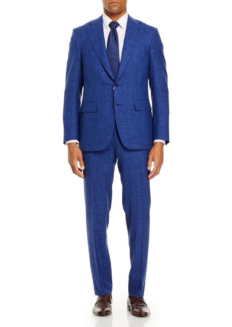 Canali Capri Melange Solid Slim Fit Suit