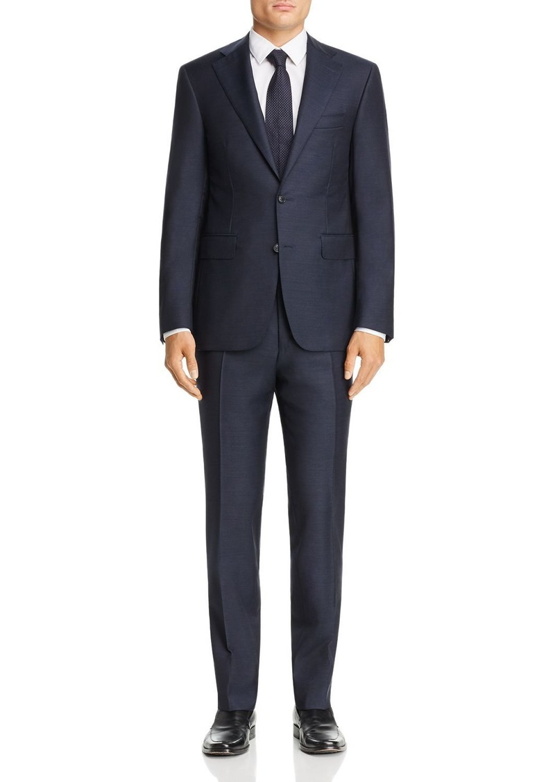 Canali Capri M�lange Twill Solid Slim Fit Suit