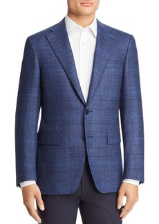 Canali Capri Plaid Slim Fit Sport Coat