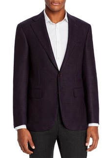 Canali Capri Textured Solid Slim Fit Sport Coat
