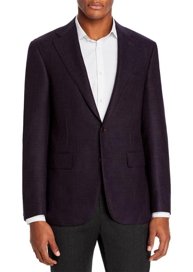Canali Capri Textured Solid Slim Fit Sport Coat