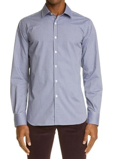 Canali Check Dress Shirt