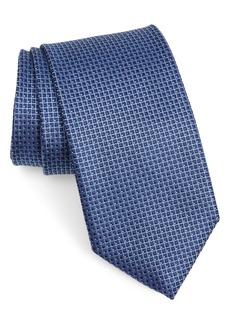 Canali Check Silk Tie