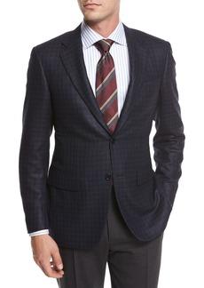 Canali Check Silk-Wool Sport Coat