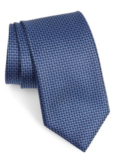 Canali Check Silk X-Long Tie