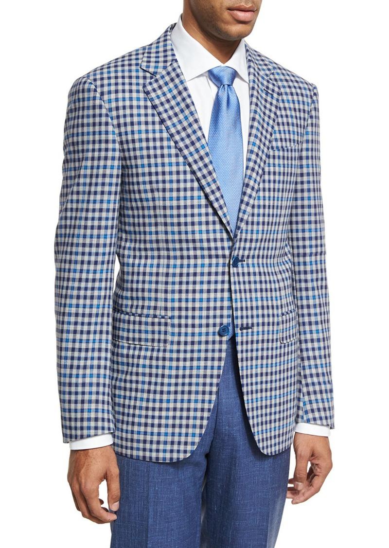 f7063e07359 Canali Check Wool Two-Button Sport Coat