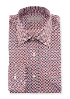 Canali Chevron Cotton Dress Shirt