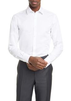 Canali Classic Fit Button-Up Knit Dress Shirt