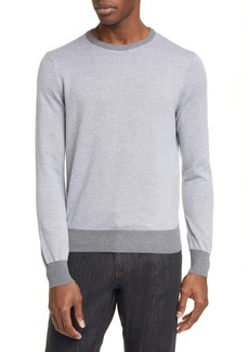 Canali Classic Fit Dot Pattern Cotton Crewneck Sweater