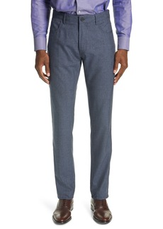 Canali Classic Fit Heathered Wool Sport Trousers