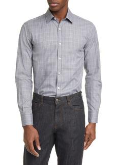 Canali Classic Fit Mélange Button-Up Shirt