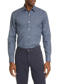 Canali Classic Fit Plaid Button-Up Shirt