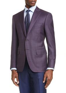 Canali Classic Fit Slub Wool Sport Coat