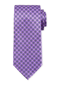 Canali Connected Medallions Silk Tie
