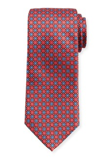 Canali Connected-Medallions Silk Tie