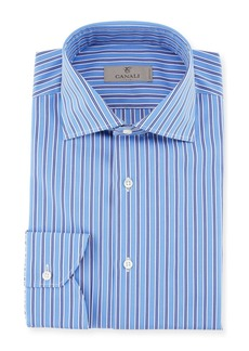 Canali Contrast Striped Dress Shirt