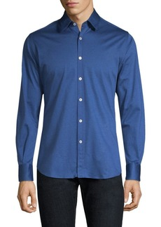 Canali Cotton Button-Down Shirt