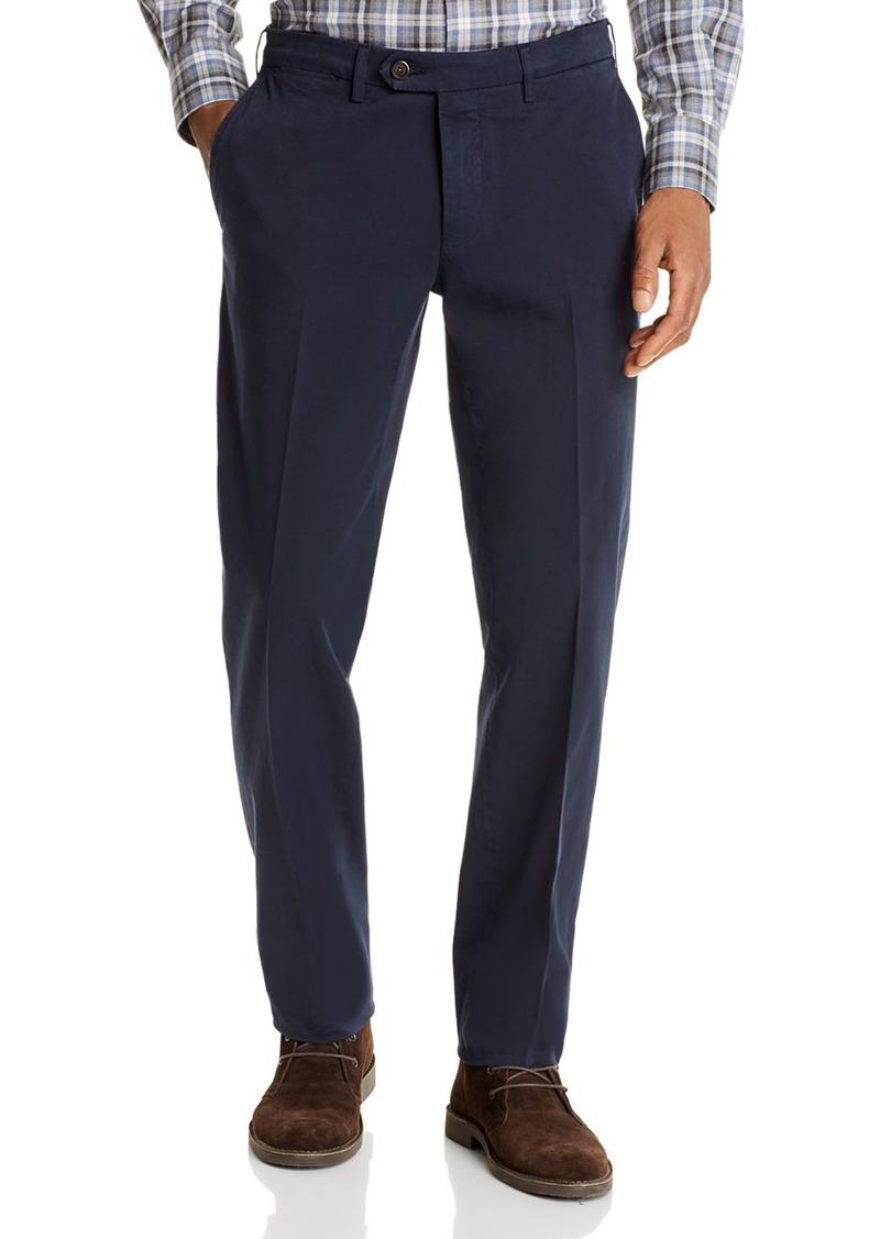 Canali Cotton Stretch Garment-Washed Regular Fit Chino Pants