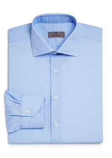 Canali Crosshatch Textured Solid Regular Fit Dress Shirt