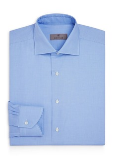 Canali Crosshatch Textured Solid Regular Fit Dress Shirt