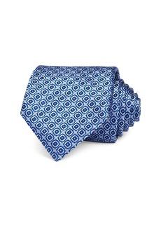 Canali Diamond Grid Silk Classic Tie