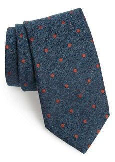 Canali Dot Silk & Wool Tie