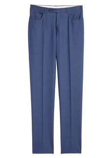 Canali Five Pocket Slim Fit Wool Travel Trousers