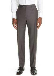 Canali Flat Front Wool Dress Pants